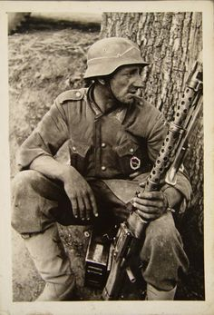German soldier. Probably Eastern Front