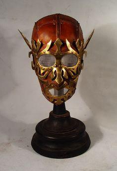 Bob Basset's Lair – Steampunk Elf Art Leather mask