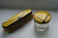Glass Expressive Antiqie Gilouche Enamel Traveling Perfume Bottles Set In Leather Case Uwa