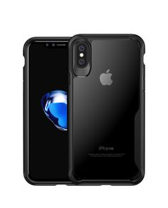 iPhone X Case Hard Protect Case Shock Absorption Back-Transparent Bumper for iPhone 10 // X-White TPU Hybrid Ultra-Thin Perfect Fit PC
