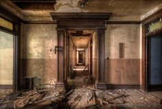 Photograph taken at First National Bank* by Matthew Christopher of abandonedamerica.us.  #urbandecay #ruinporn