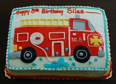 image of fire truck cake - Google Search