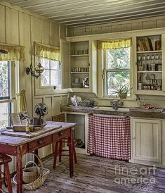 Cross Creek Kitchen - Marjorie Kinnan Rawlings homestead ~ http://fineartamerica.com/featured/cross-creek-country-kitchen-lynn-palmer.html