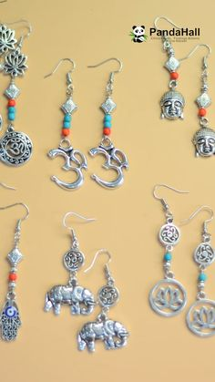 Tutorial on Tibetan style pendant earrings, Diy Abschnitt, Fashion Jewelry Necklaces, Bead Jewellery, Pendant Jewelry, Beaded Jewelry, Pendant Earrings, Wire Jewelry Making, Handmade Wire Jewelry, Earring Crafts, Diy Crafts Jewelry