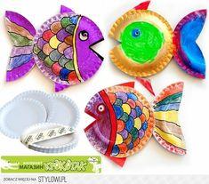 Rainbow Fish Paper plates