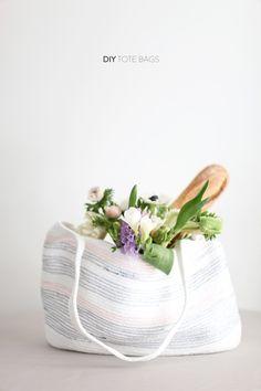 DIY Rope Tote Bags