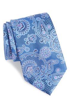 Main Image - Nordstrom Men's Shop Huntsman Paisley Silk Tie (X-Long)