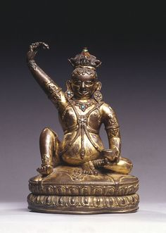 Cast for Eternity: Bronze Masterworks from India and the Himalayas Tsang Nyön Heruka Tibet 16th century Gilt copper H. 25.6 W. 17.8 D. 14.0 Collection J. and M. Meijer, The Netherlands