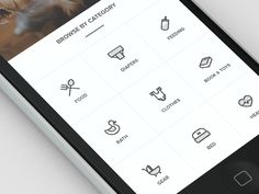Browse by Category icon menu | User Interface Icon Design