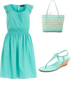 """""""Summertime Blues"""" by cpeeters ❤ liked on Polyvore"""