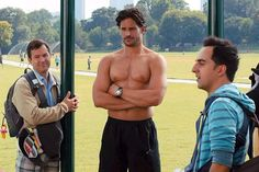 Pin for Later: The Hottest Shirtless Guys in Movies Joe Manganiello, What to Expect When You're Expecting There's a reason Davis (Joe Manganiello) is the local hero: he's shirtless perfection.