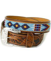 feb03fbd190 Shop Men s Tony Lama Chimayo Bead Belt Online