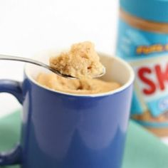 Peanut butter mug cake (low fat version). Ready in 5 minutes.