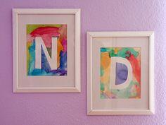 watercolor initials