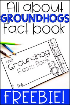 This Mini Groundhog Day Fact Book is a fun way to review facts about groundhogs and Groundhog Day! Each page has a topic tab and facts! This fact-book is part of a larger groundhog day pack. You can find it here: Groundhog Day Facts - 1st Grade #groundhogfacts #groundhogfactbook #groundhogminibook #groundhogfreebie #groundhogdayfreebie