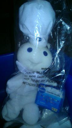 d05c9cad1ae The adorable Pillsbury Doughboy beanie baby from the 90 s Pillsbury Dough
