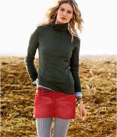 sweater, corduroy skirt, knit tights. i'm soooo ready for fall.