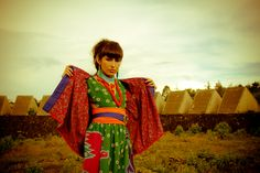 My brand and inspired look: Mexican Kitch Fashion Design. #Fashion #Design #Mexico #Huichol #Model