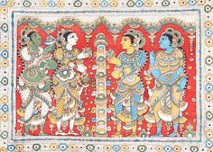 Kerala Mural Painting, Buddha Painting, Indian Art Paintings, Kalamkari Painting, Buddha Sculpture, Indian Folk Art, Fashion Painting, Art And Architecture, Painting Styles