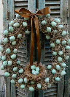 Twig Wreath – Use our safer (and easier) method to blow eggs to create this rustic wreath. Click for the full tutorial and for more easter wreaths.
