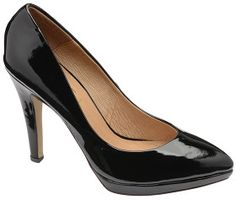 Ravel Marcia Black Patent Platform Court Shoe