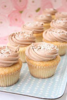 Vanilla Bean Buttermilk Cupcakes with Nutella Buttercream
