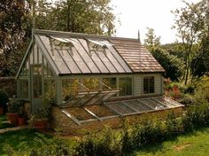 greenhouse with potting shed attached - Google Search