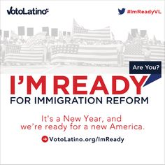 Voto Latino. We're Ready Immigration Reform, Criminal Justice, Graphics, America, Movie Posters, Vows, Graphic Design, Film Poster, Popcorn Posters