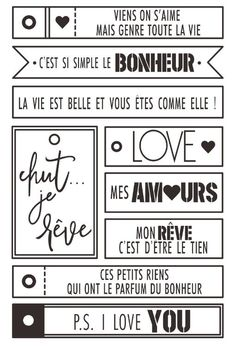 French Words Clear Silicone Stamps for Scrapbooking / DIY Card Making / Kids . - French words Clear Silicone Stamps for Scrapbooking / Card DIY Making / Children… – - Album Photo Scrapbooking, Mini Albums Scrapbook, Scrapbook Cards, Diy Francais, Friend Scrapbook, Christmas Decorations For Kids, Mini Album Tutorial, French Words, Journal Cards