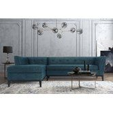 Found it at Wayfair - Ayer Textured Linen Chaise Sectional