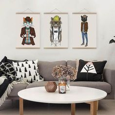 Hipster home decor modern fashion hipster animals cat kitty posters prints living room wall art pictures . hipster home decor Casa Hipster, Hipster Home Decor, Hipster Dorm, Hipster Living Rooms, Nordic Living Room, Large Art Prints, Canvas Art Prints, Wall Art Pictures, Canvas Pictures