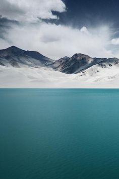 Water, snow, sky