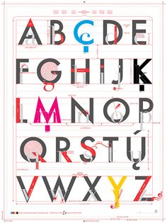 """"""" Many of us learned our ABCs in elementary school from big alphabet posters tacked up by our kindergarten teachers on the walls. New from Pop Chart Lab, the Alphabet of Typography is like that. Typography Terms, Typography Letters, Typography Poster, Web Design, Design Shop, Design Taxi, Type Design, Logo Design, Graphic Design Posters"""