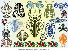 art nouveau insects by boordon, via Shutterstock