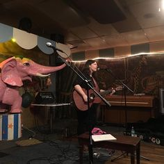 @janapochop and Lucille are folk-rapping for us here at @carousellounge #folksinger #talentedfriends #songswap #livemusic #austinmusic