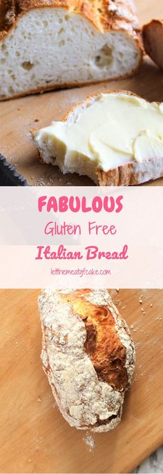 This FABULOUS gluten free Italian-American style bread is so freaking good! It's soft and fluffy with a thin soft crust that's just absolute perfection 🙂 Free Fabulous Gluten Free Italian Bread Patisserie Sans Gluten, Dessert Sans Gluten, Bon Dessert, Gluten Free Desserts, Appetizer Dessert, Wheat Free Recipes, Dairy Free Recipes, Gluten Free Italian Bread Recipe, Gluten Free Homemade Bread