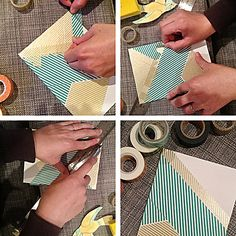 see that there: DIY :: washi tape art    Great Idea