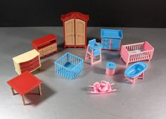 Dollhouse Furniture Lot / Jean West Germany / 11 Pieces by @UBlinkItsGone