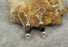 Crystal Jewelry, Crystal Beads, Gemstone Earrings, Dangle Earrings, Metallic Luster, Natural Crystals, Black And Brown, Jewelry Gifts, Minerals