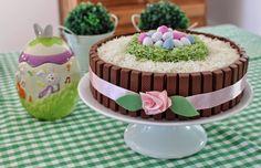 Receitas - From our home to yours - Português: Kit Kat Easter Cake - Bolo de Páscoa Kit Kat