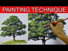 (1) How to Paint an Oak Tree in Acrylic by JM Lisondra - YouTube