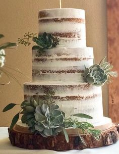 Live Edge Oak Customizable Platforms Ask for a Custom Quote Prior to Purchase Floral Wedding Cakes, Cool Wedding Cakes, Beautiful Wedding Cakes, Wedding Cake Designs, Wedding Cake Toppers, Floral Cake, Bouquet Wedding, Cake Inspiration, Marriage Day
