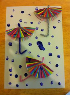 Easy weather art activity for preschoolers and reception children.