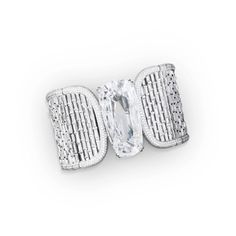 Glenn Spiro 'G London' Collection: A bangle bracelet in 18k white gold, with removable diamond making into a ring, set with a D Flawless Type IIa pear-shaped diamond weighing 40.51 carats.