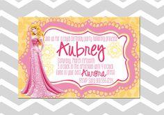 Customizable Girl Aurora Princess Birthday by ADashOfBeautiful, $6.50