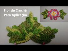 Folhas de Crochê Para Aplicação no Jogo de Banheiro 04 - YouTube
