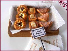 Miniature: Danish pastries. $40.00, via Etsy.