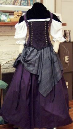 Renaissance purple Witch Wench custom costume