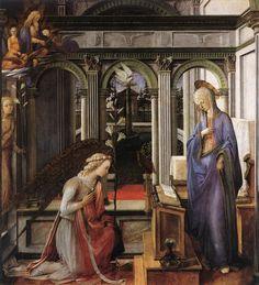 Annunciazione  Dipinto a tempera su tavola del pittore italiano Filippo Lippi, databile al 1450-1453 circa e conservato nella National Gallery di Londra.