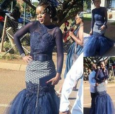 Shweshwe Styles for Fashion Lovers 2018 ⋆ African Fashion Traditional, African Traditional Wedding Dress, Traditional Skirts, Traditional Outfits, African Wedding Attire, African Attire For Men, African Wear, African Dress, African Weddings